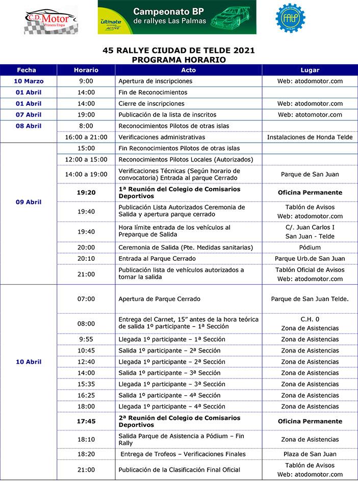 Programa horario RCT
